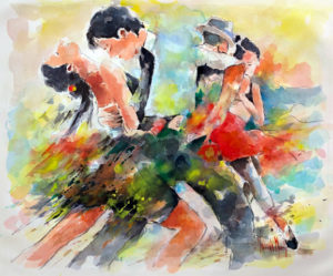 Tango, aquarelle