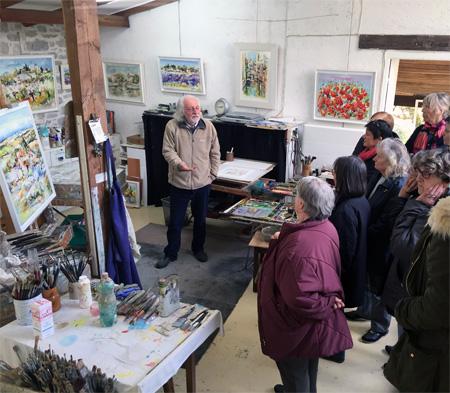 Visite atelier Claude Nicaud